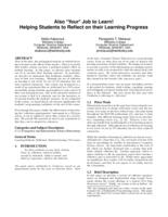 Also Your Job to Learn! Helping Students to Reflect on their Learning Progress
