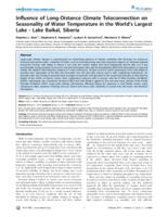 Influence of Long-Distance Climate Teleconnection on Seasonality of Water Temperature in the World's Largest Lake - Lake Baikal, Siberia - Lake Baikal, Siberia