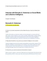 Interview with Bernardo A. Huberman on Social Media and Collective Intelligence