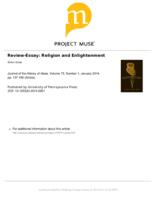 Review-Essay: Religion and Enlightenment