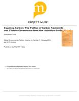 Counting Carbon: The Politics of Carbon Footprints and Climate Governance from the Individual to the Global