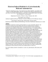 Electron-Induced Radiolysis of Astrochemically Relevant Ammonia Ices