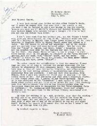 Letter from Eleanor Blair, Wellesley, Massachusetts, to Richard Church : typed manuscript, unsigned copy, 1965 July 8