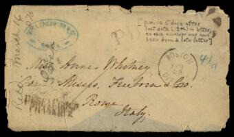 Letter from Sarah Whitney, to Anne Whitney, Rome, Italy, 1870 January 21