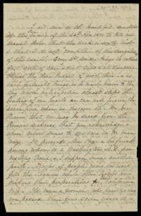 Letter from Sarah Whitney, to Anne Whitney, 1870 April 24