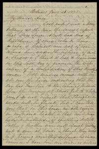 Letter from Sarah Whitney, Belmont, Massachusetts, to Anne Whitney, Rome, Italy, 1871 January 23