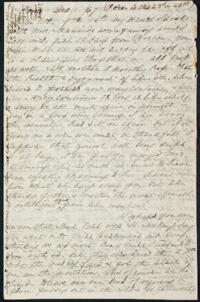 Letter from Anne Whitney, Rome, Italy, to Sarah Whitney, 1867 December 1