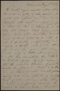 Letter from Sarah Whitney, Belmont, Massachusetts, to Anne Whitney, Rome, Italy, 1867 May 2