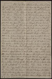 Letter from Sarah Whitney, to Anne Whitney, Rome, Italy, 1868 November 3