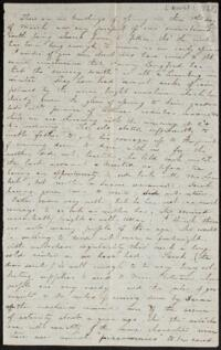 Letter from Caroline Rogers Whitney, Belmont, Massachusetts, to Anne Whitney, 1868 March 1