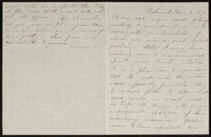 Letter from Caroline Rogers Whitney, Belmont, Massachusetts, to Anne Whitney, 1871 March 6