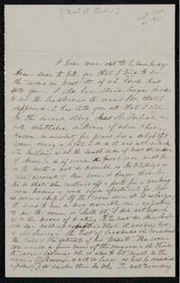 Letter from Sarah Whitney, Cambridge, Massachusetts, to Anne Whitney, New York, between 1860 and 1870