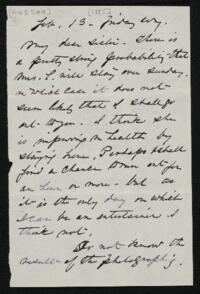 Letter from Anne Whitney, to Sarah Whitney, 1885 February 13