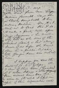 Letter from Anne Whitney, to Sarah Whitney, 1885 March 3