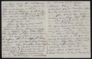 Letter from Anne Whitney, Shelburne, New Hampshire, to Sarah Whitney, 1885 August 27