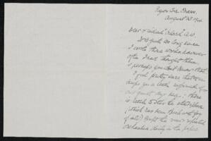 Letter from Elizabeth H. Bartol, Pigeon Cove, Massachusetts, to Anne Whitney, Plymouth, Massachusetts, 1904 August 13