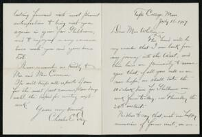 Letter from Charles E. Fay, Tufts College, Massachusetts, to Anne Whitney, 1907 July 18