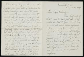 Letter from Charles E. Fay, Tamworth, New Hampshire, to Anne Whitney, 1907 August 11