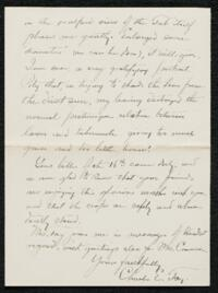 Letter from Charles E. Fay, Tamworth, New Hampshire, to Anne Whitney, 1907 August 21