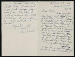 Letter from Annie Adams Fields, Manchester, Massachusetts, to Anne Whitney, Shelburne, New Hampshire, 1913 September 5
