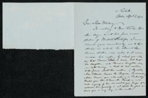 Letter from Francis Jackson Garrison, Boston, Massachusetts, to Anne Whitney, 1914 April 8