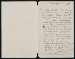 Letter from Elizabeth Bigelow Greene, Wellesley, Massachusetts, to Anne Whitney, Boston, Massachusetts, 1913 February 22