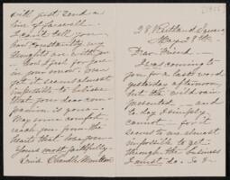 Letter from Louise Chandler Moulton, Boston, Massachusetts, to Anne Whitney, 1906 May 28
