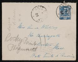 Letter from Vida Dutton Scudder, Italy, to Anne Whitney, Plymouth, Massachusetts, 1906 June 9