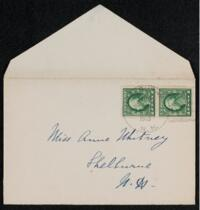 Letter from Vida Dutton Scudder, Shelburne, New Hampshire, to Anne Whitney, Shelburne, New Hampshire, 1913 August 18