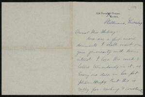 Letter from Vida Dutton Scudder, Shelburne, New Hampshire, to Anne Whitney, 1913
