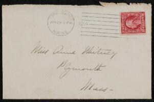 Letter from Vida Dutton Scudder, Yarmouth, Maine, to Anne Whitney, 1914 June 27