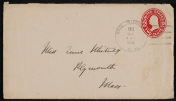 Letter from Vida Dutton Scudder, Shelburne, New Hampshire, to Anne Whitney, Plymouth, Massachusetts, 1914 July 19