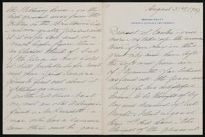 Letter from Margaret Whitney Pratt, New York, New York, to Anne Whitney, Boston, Massachusetts, 1904 August 31