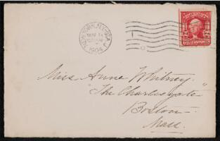 Letter from Margaret Whitney Pratt, New York, New York, to Anne Whitney, Boston, Massachusetts, 1904 November 16