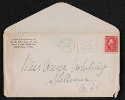 Letter from Dr. E. B. Cahill, Boston, Massachusetts, to Anne Whitney, Shelburne, New Hampshire, 1912 July 25