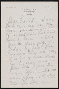 Letter from Dr. E. B. Cahill, Boston, Massachusetts, to Anne Whitney, 1912