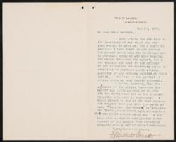 Letter from Donald E. Winchester, to Adeline Manning, 1898 May 27