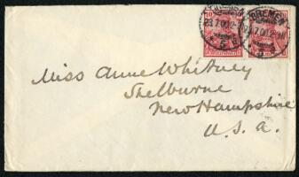 Letter from Dr. George Lincoln Goodale, Bremen, Germany, to Anne Whitney, Shelburne, New Hampshire, 1900 July 23