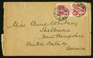 Letter from Dr. George Lincoln Goodale, Detmold, Germany, to Anne Whitney, Shelburne, New Hampshire, 1900 August 17