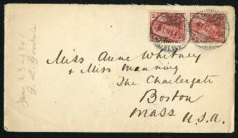 Letter from Dr. George Lincoln Goodale, Dresden, Germany, to Anne Whitney, Boston, Massachusetts, 1901 January 07