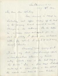 Letter from Dr. George Lincoln Goodale, Shelburne, New Hampshire, to Anne Whitney, 1902 August 18