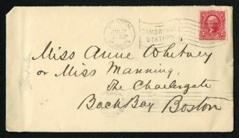 Letter from Dr. George Lincoln Goodale, Cambridge, Massachusetts, to Anne Whitney and Adeline Manning, Boston, Massachusetts, 1904 January 17
