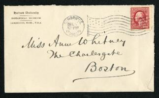 Letter from Dr. George Lincoln Goodale, Cambridge, Massachusetts, to Anne Whitney, Boston, Massachusetts, 1909 December 30