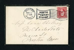 Letter from Ida Agassiz Higginson, Boston, Massachusetts, to Anne Whitney, Boston, Massachusetts, 1911 May 29
