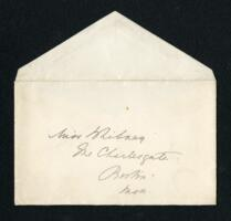 Letter from Ida Agassiz Higginson, Boston, Massachusetts, to Anne Whitney, Boston, Massachusetts, 1913