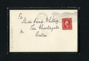 Letter from Erving Winslow, Boston, Massachusetts, to Anne Whitney, Boston, Massachusetts, 1912 January 30