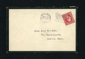 Letter from Erving Winslow, Boston, Massachusetts, to Anne Whitney, Boston, Massachusetts, 1912 December 6