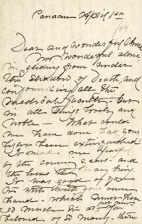 Letter from Fidelia Bridges, Canaan, Connecticut, to Anne Whitney, 1904 April 1