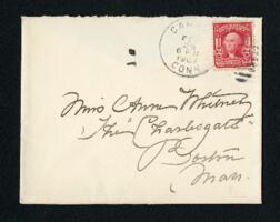 Letter from Fidelia Bridges, Canaan, Connecticut, to Anne Whitney, Boston, Massachusetts, 1907 February 26