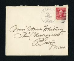 Letter from Fidelia Bridges, Canaan, Connecticut, to Anne Whitney, Boston, Massachusetts, 1907 February 17